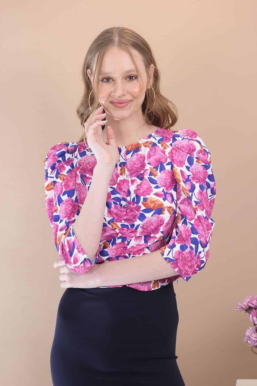 חולצת פרחים איימי