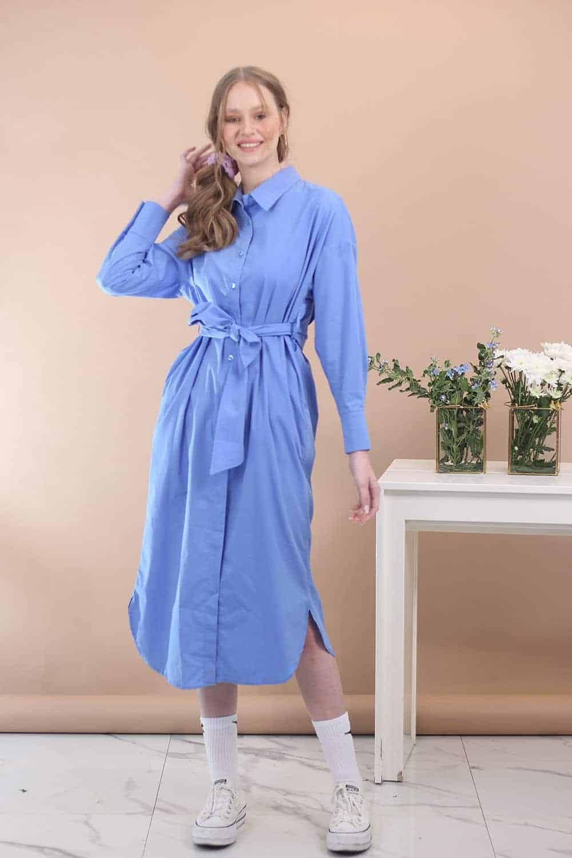 שמלת צווארון קייט