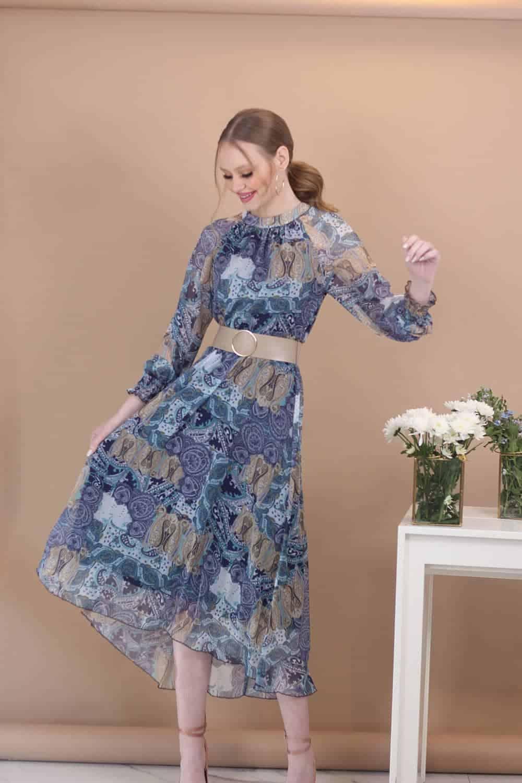 שמלת שיפון לני מקסי